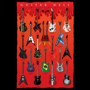 Guitar Hell Poster - Axes Of Evil