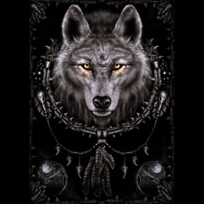 Wolf Dreams Poster By Spiral Design