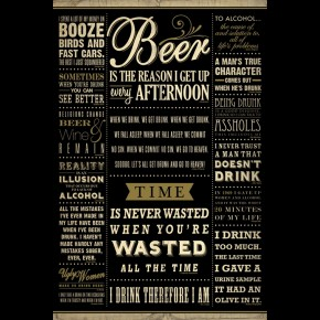 Drinking Quotes Poster