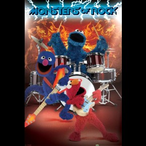 Sesame Street Monsters Of Rock Poster