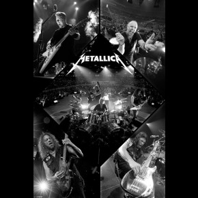 Metallica Live 2012 Poster (Black and White)