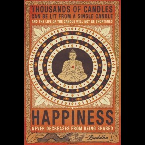 Buddha Candles Poster
