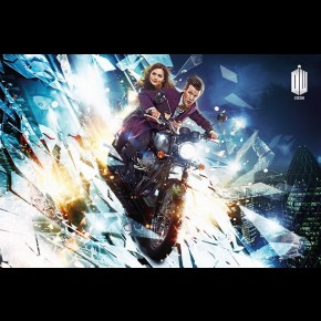 Doctor Who And Clara (Motorbike) Poster