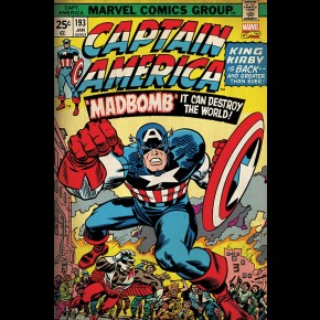 Captain America (Retro Marvel) Poster