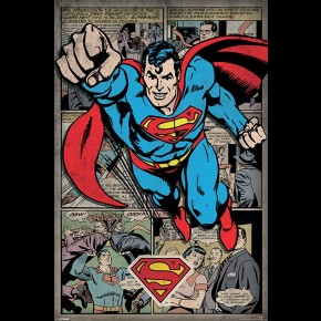 Superman Comic Montage Poster