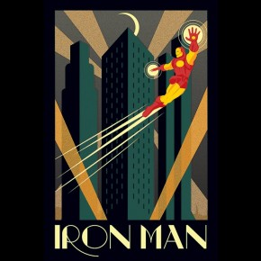 Iron Man (Marvel Deco) Poster