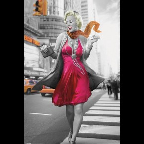 Marilyn Monroe (New York Walk) Poster