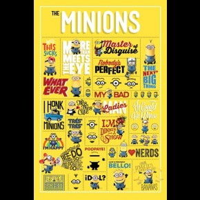Despicable Me (Minion Infographic) Poster