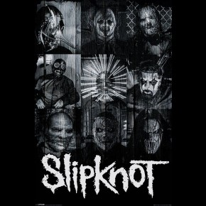 Slipknot (B/W Masks) Poster