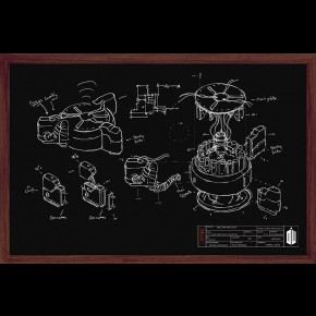 Doctor Who (Chalkboard Diagram) Poster