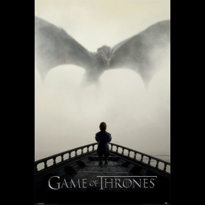 Game Of Thrones (Lion and Dragon) Poster
