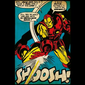 Marvel Iron Man (Swoosh) Poster