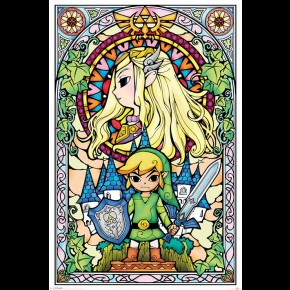 Zelda (Stained Glass) Poster