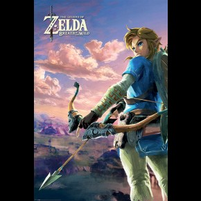 Zelda Breath Of The Wild (Hyrule Scene) Poster