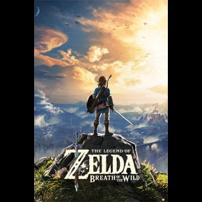 Zelda Breath Of The Wild (Sunset) Door Poster