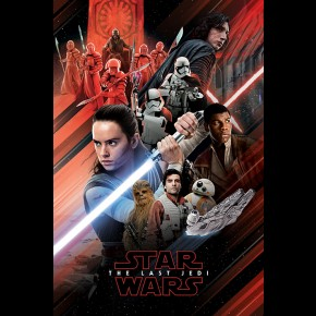 Star Wars Last Jedi (Red Montage) Poster