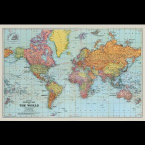 World Map (Stanfords General) Poster