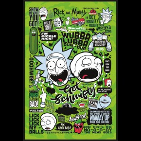 Rick and Morty (Quotes-Green) Poster