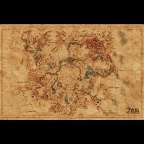 Zelda Breath Of The Wild (Hyrule World Map) Poster