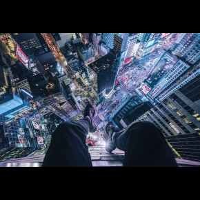 On The Edge Of Times Square Poster