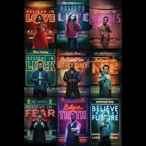 American Gods (Characters) Poster