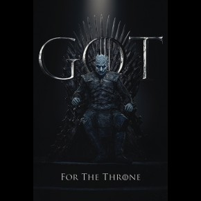 Game Of Thrones (The Night King For The Throne) Poster