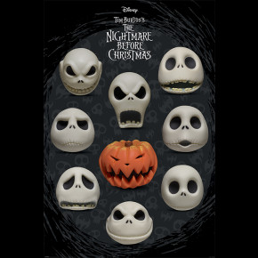Nightmare Before Christmas (Many Faces of Jack) Poster