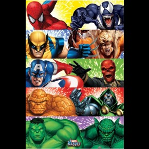 Marvel Heroes Vs Villians Poster