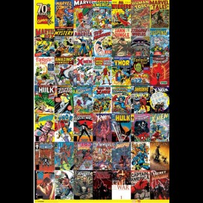 Marvel 70th Anniversary Covers Poster