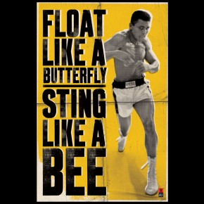 Muhammad Ali Float Like A Butterfly Poster