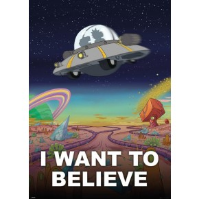 Rick and Morty (I Want To Believe) Giant Poster