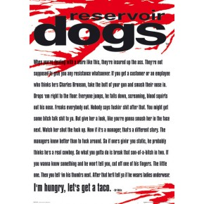 Reservoir Dogs (Mr White Quote) Poster