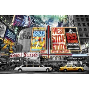 New York Theatre Signs Poster