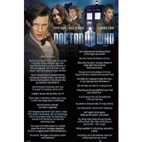 Doctor Who (Everything I Know) Poster