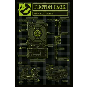 Ghostbusters (Proton Pack) Poster